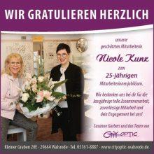 25 Jahre City Optic und 25 Jahre mit Nicole Kunz